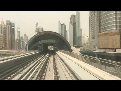 Dubai Metro and Burj khalifa View || Dubai metro