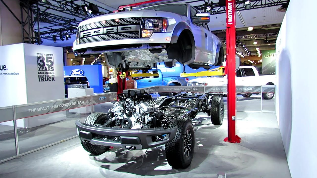 2012 ford f 150 raptor svt engine transmission suspension steering and exhaust walk around