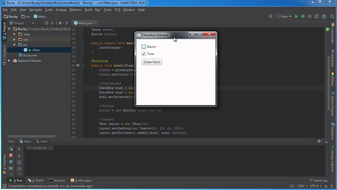 Javafx java gui tutorial 11 checkbox youtube baditri Images