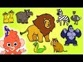 Learn Wild Animals Names And Sounds Safari Zoo Animal Names For Kids  Mp3 - Mp4 Download