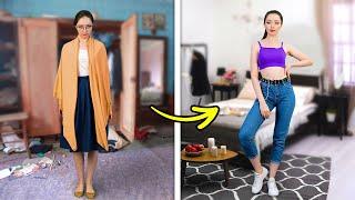 NORMAL GIRL VS. TUMBLR GIRL || Trendy Fashion Tips, Bedroom Transformation And E-Girl Style