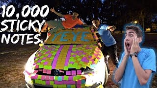 STICKY NOTE PRANK ON CAR!
