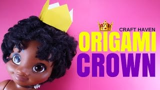 Easy Origami Crown - Paper Crown Tutorial for Beginners - DIY #Origami Art for Kids - Craft Haven