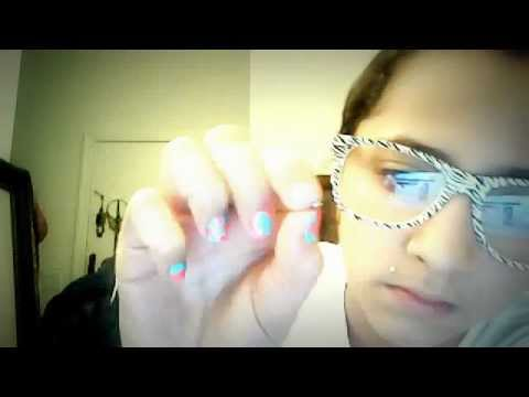 how to put on a fake nose piercing from claires - YouTube