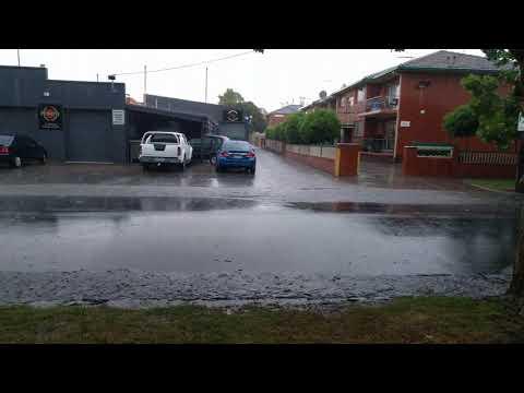 Storm in East Malvern Victoria Australia November 18th 2017