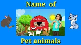 Name of pet animals ....Nursery kids learning english.