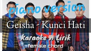Geisha - Kunci Hati ( karaoke ) female chord