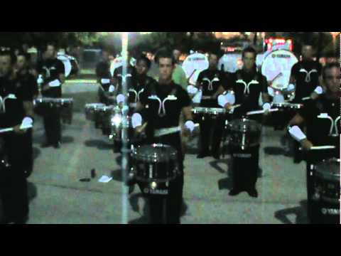 The Cavaliers Drum Break in formation 2010