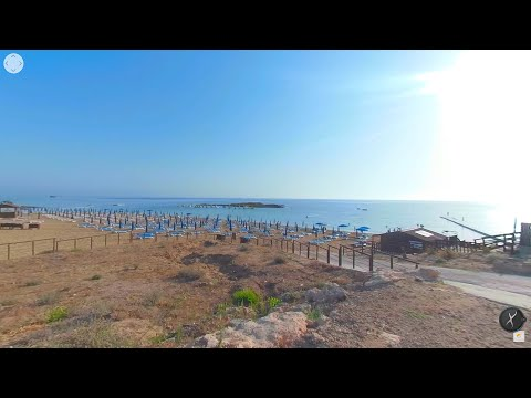 Morning on the beach in Cyprus in VR 360 Video Protaras Fig Tree Bay