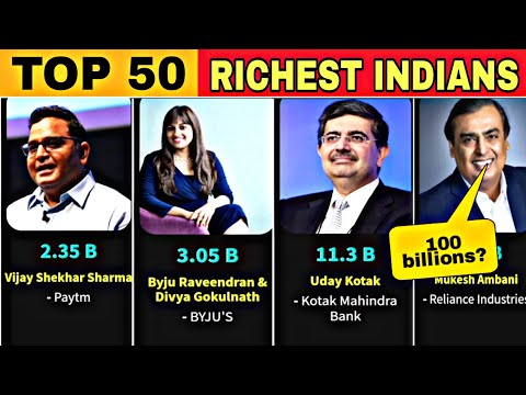 Top 50 Richest People in India 2021 || #fletchcomparisions