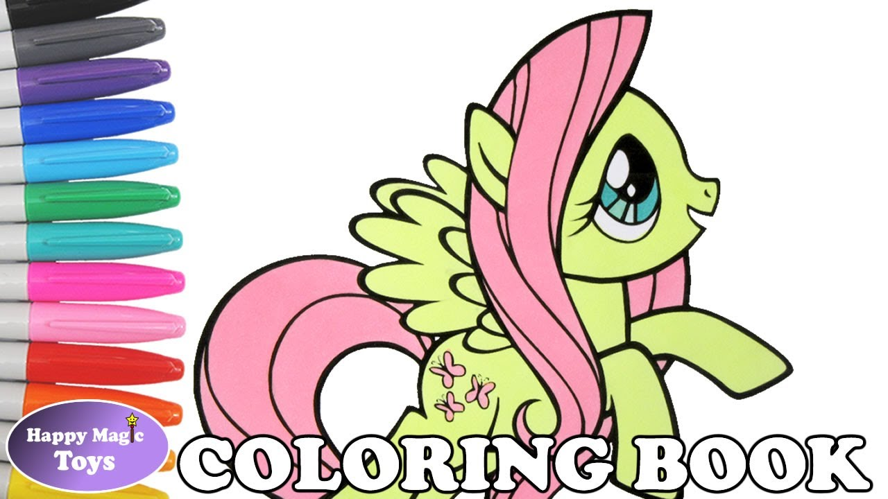 mlp fluttershy coloring book pages my little pony fluttershy