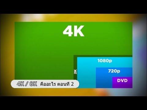 4K หรือ 8K คืออะไร สำหรับทีวีในอนาคต ตอนที่ 2