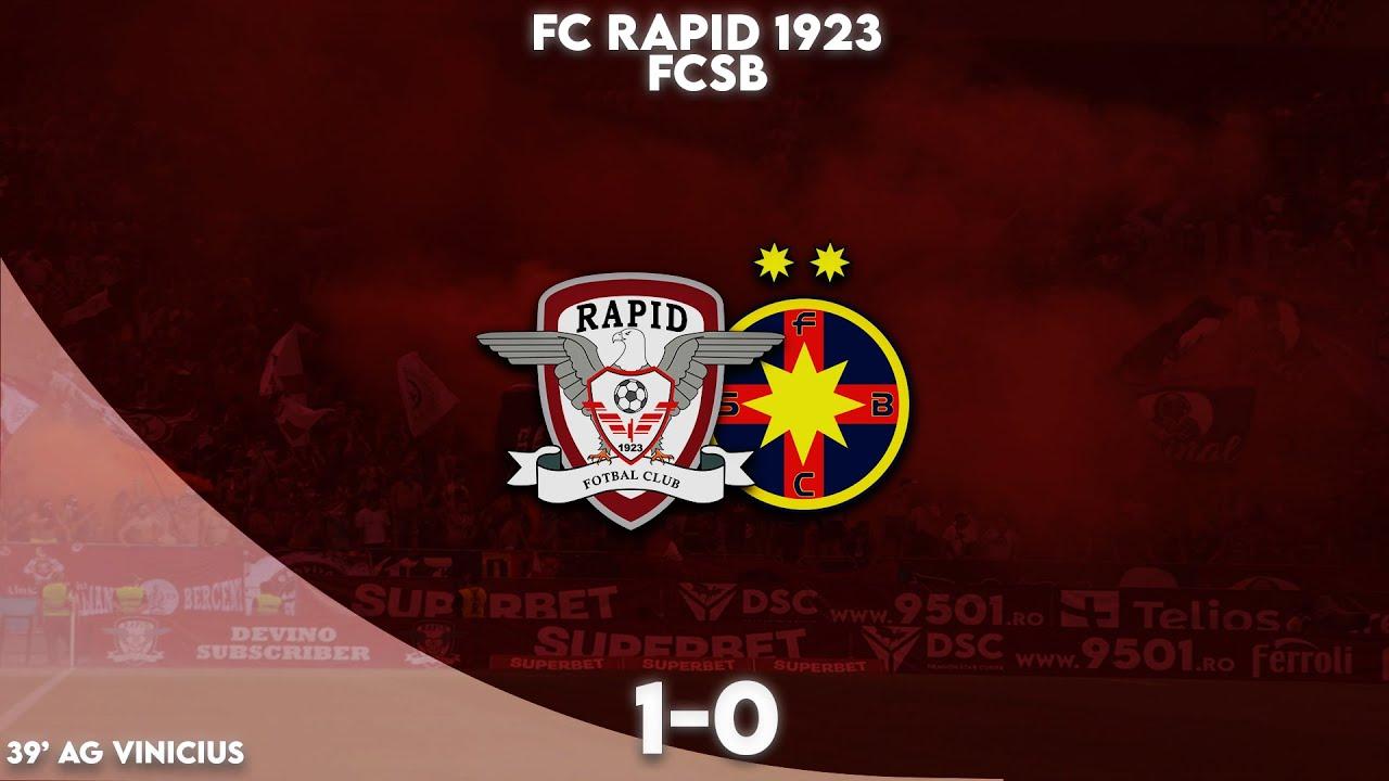 REZUMAT | Rapid - FCSB 1-0. Victorie uriașă pentru giuleșteni, dezamăgire pentru roș-albaștri