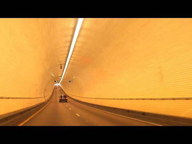 Driving underwater | George Wallace tunnel Mobile Alabama USA #Shorts