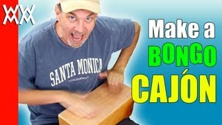 Make A Bongo Cajón: A Plywood Bongo Drum. Free Plans, Easy Woodworking Project.