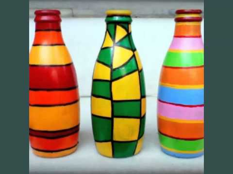 Diy Glass Bottle Art | Set Of Easy Decoration Pictures ...
