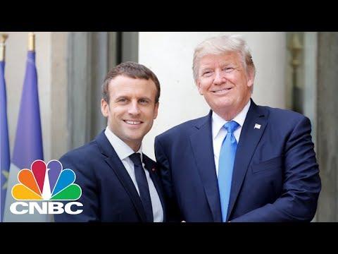 President Donald Trump & President Emmanuel Macron Hold Joint Presser - April 24, 2018 | CNBC