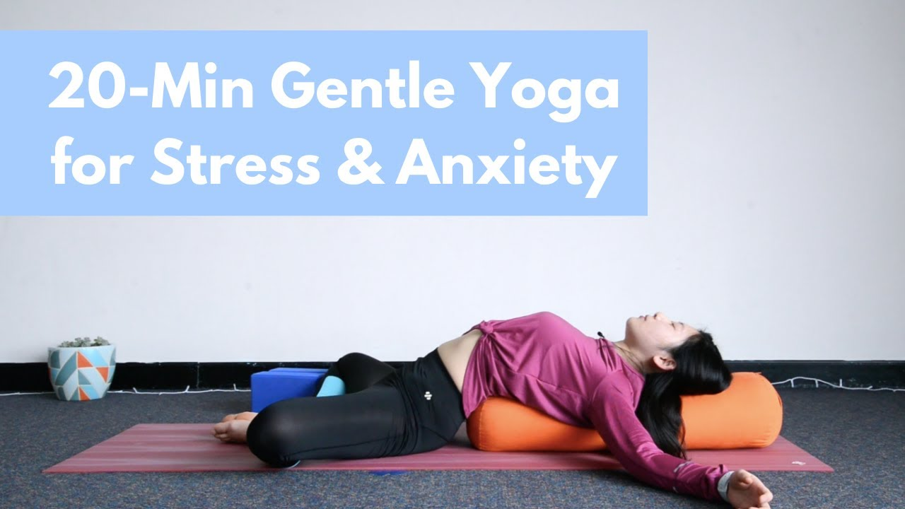20-Minute Gentle Yoga for Stress & Anxiety