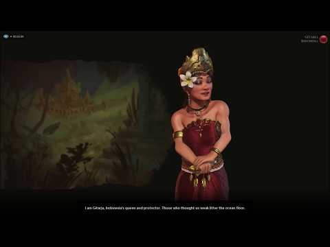 Sid Meier's Civilization VI - Gitarja Of Indonesia First Meeting
