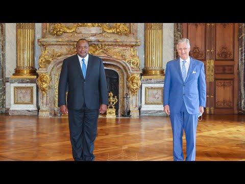 PRESIDENT UHURU IN BELGIUM FOR A TWO-DAY OFFICIAL VISIT!!