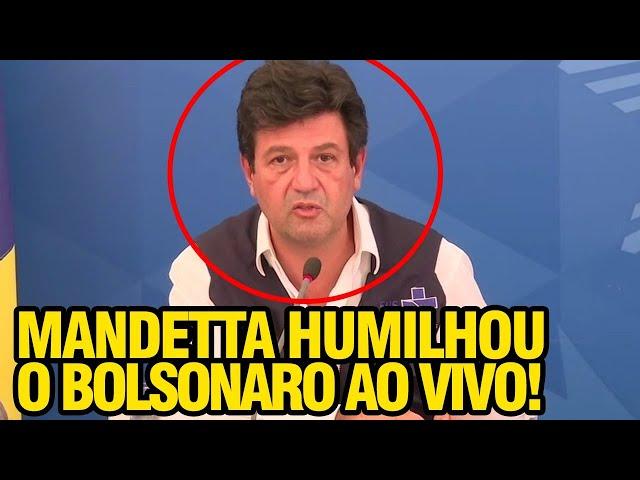 MANDETTA HUMILHA BOLSONARO AO VIVO NA TV