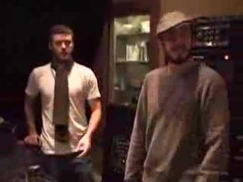 Justin Timberlake no Estudio com Matt Morris