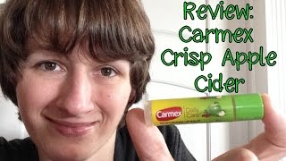 review carmex daily care crisp apple cider lip balm