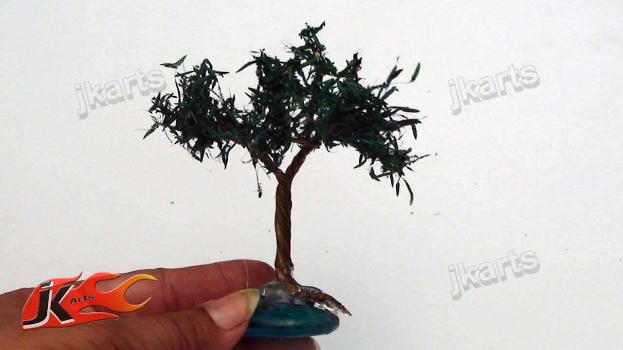 Miniature wire tree | DIY How to make | JK Arts 107 - YouTube