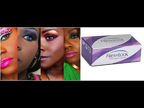Freshlook Colorblends: 6 colors on Dark Eyes/Skin from YouTube · Duration:  3 minutes 48 seconds