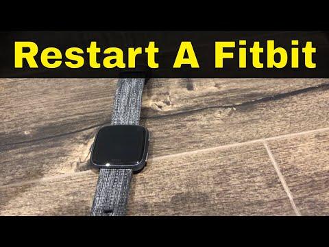 How do you restart a fitbit versa lite