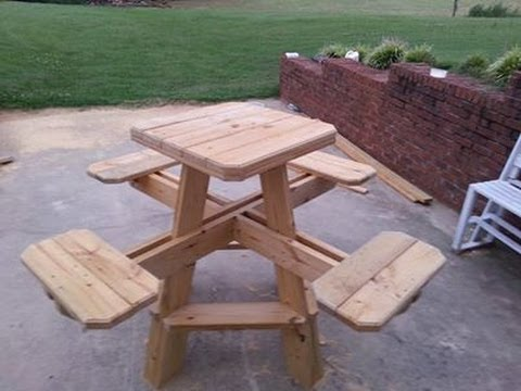 Bar stool picnic table build chapter 1. - YouTube