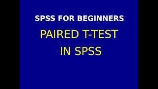 11   Paired t test using SPSS