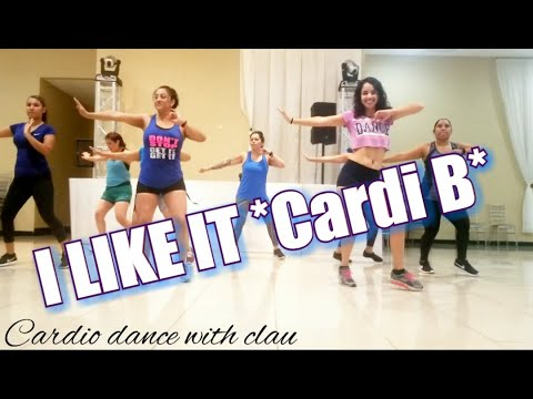 Cardi B,Bad Bunny & J Balvin-I LIKE IT(Dillon Francis Remix)cardio dance with clau