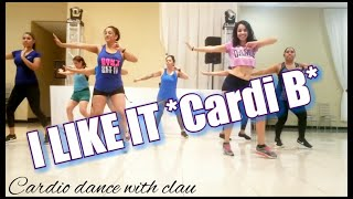 Cardi B,Bad Bunny & J Balvin-I LIKE IT(Dillon Francis Remix)cardio dance with clau Video