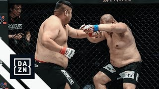 Two 340+ lb Heavyweights Fight At ROAD FC 53