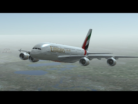 Infinite Flight Simulators broadcast. Emirates Airlines Airbus-A380/800-Takeoff Form London Heathrow