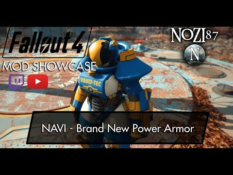 Fallout 4 Mod Showcase: NAVI - Brand New Power Armor by Justice