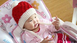 鉤針編織帽子 螺旋紋聖誕帽 1/2 thumbnail