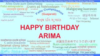Arima   Languages Idiomas - Happy Birthday