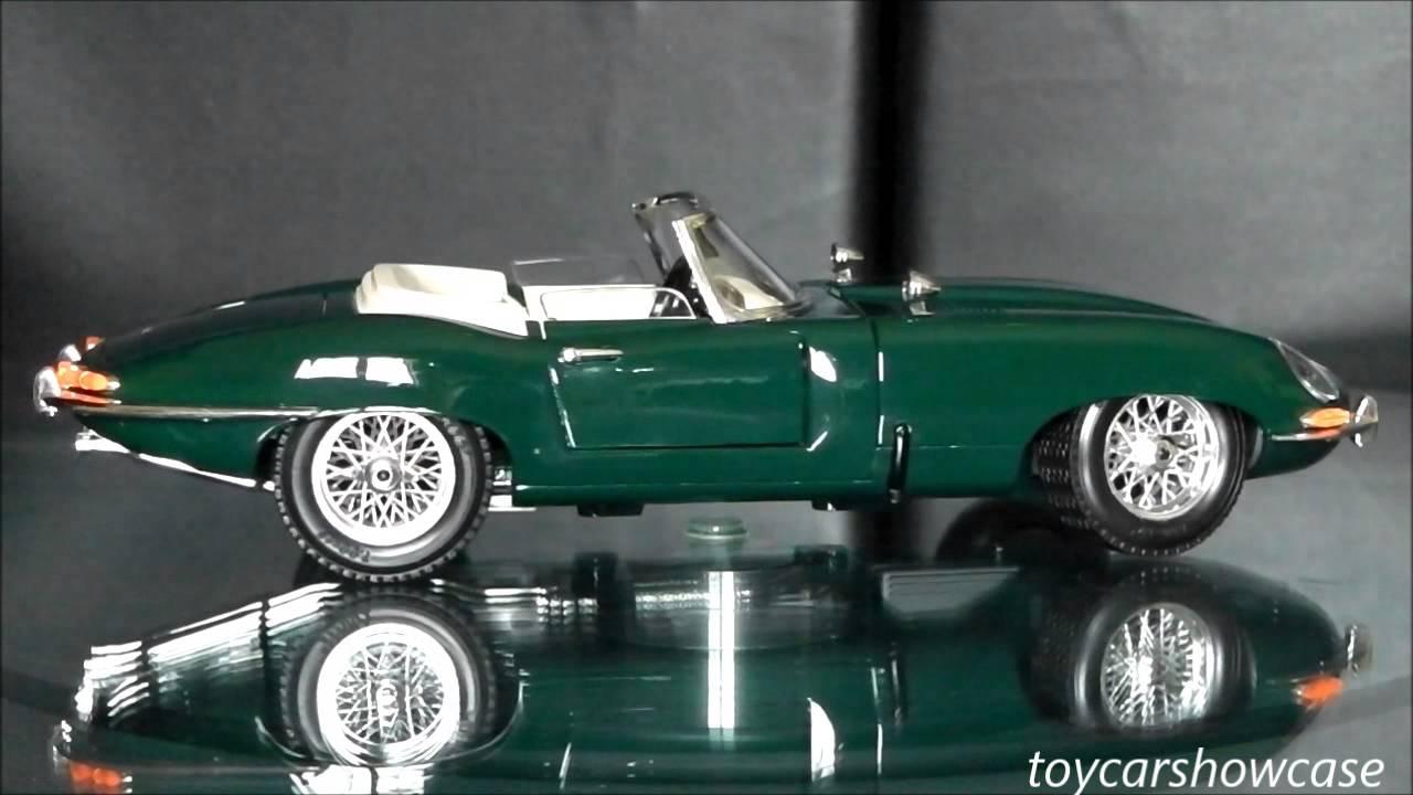 Jaguar E Type >> Bburago 1961 Jaguar E Cabriolet 1:18 scale - YouTube
