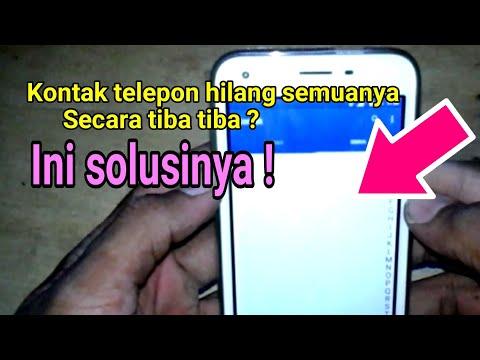 Cara Mudah Mengembalikan kontak (No HP) yang Terhapus di SIM Atau Di Telpon Hallu teman2, tanpa kita.