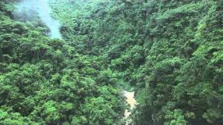 Unedited Aerial of Beautiful Valley and Waterfall filmed with Cineflex by Leo Tamargo