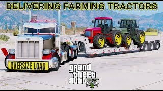 GTA 5 REAL LIFE MOD - ANOTHER DAY AT WORK #46 New PhantomHD Oversize Truck & Lowboy Trailer