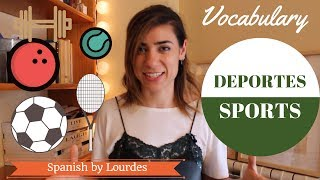Vocabulary: deporte. Sports. Spanish lesson. Clase de español