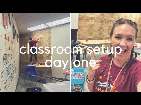 MUSIC CLASSROOM SET UP // day one