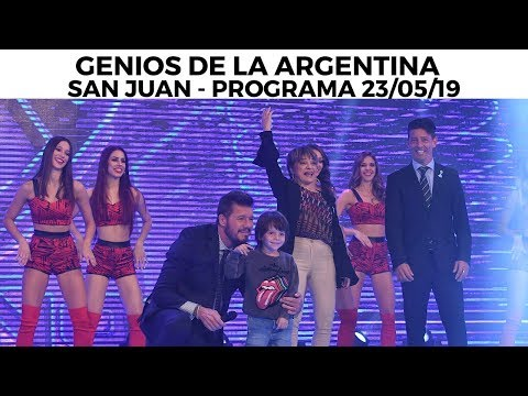 Genios de la Argentina en Showmatch - Programa completo 23/05/19 - SAN JUAN