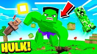 Playing MINECRAFT As THE HULK! (overpowered)