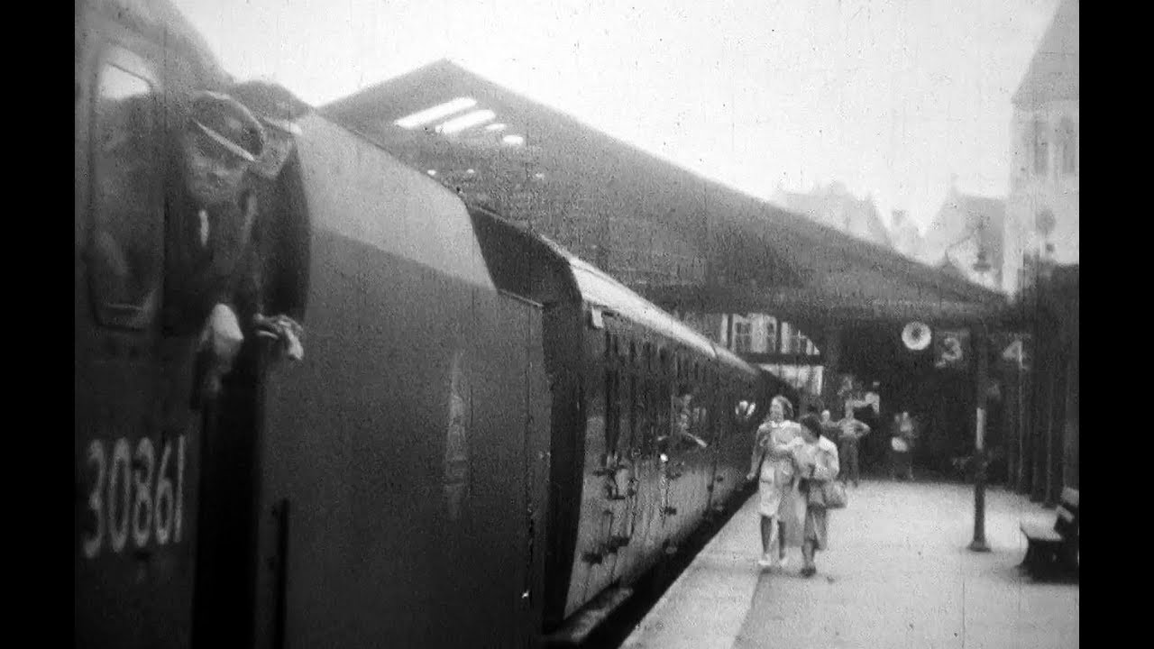 1950 Steam Train Leaves Weymouth Station Short Youtube