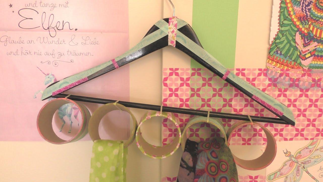 Basteln Mit Kleiderbügel diy aufbewahrung für schal tücher schal garderobe zum aufhängen
