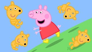 Peppa Pig Official Channel   Peppa Pig's Teddy Rolls Down the Hill